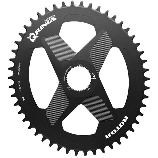 Rotor Q-Ring Kettenblatt Oval 1x DM Alu schwarz