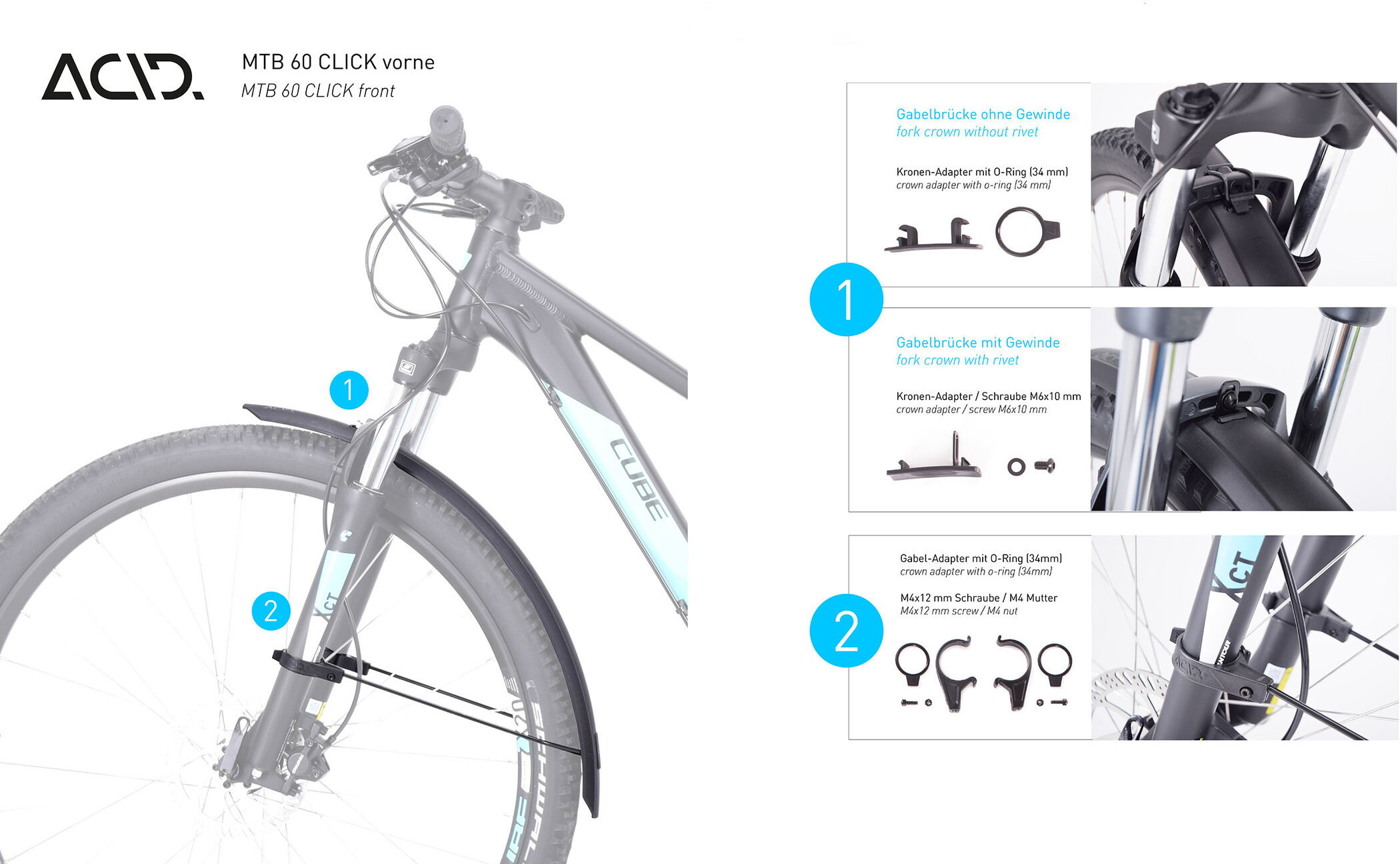 cube fahrrad lampen set