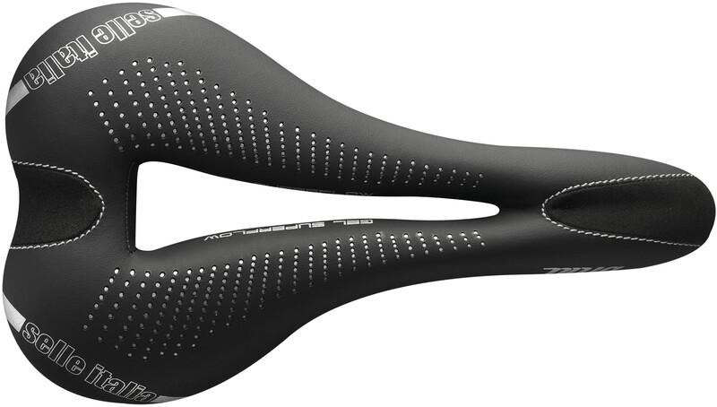 Selle Italia Gel Superflow Sadel Dame Svart S | 13,5cm 2019 El-sykkel Seter