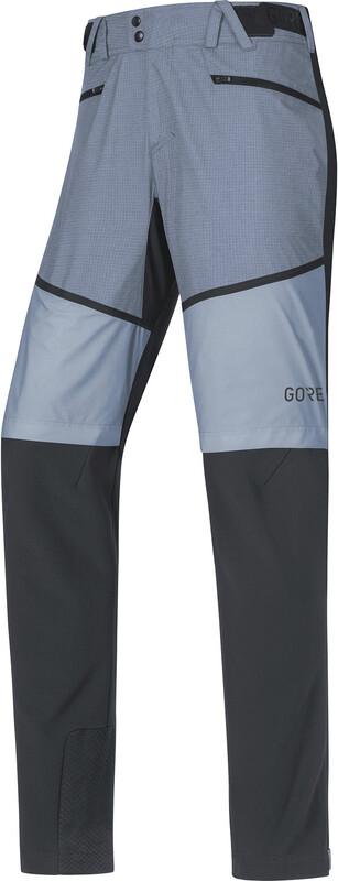 GORE WEAR H5 Gore Windstopper Hybrid Pants Herre Svart/Blå L 2018 Turbukser