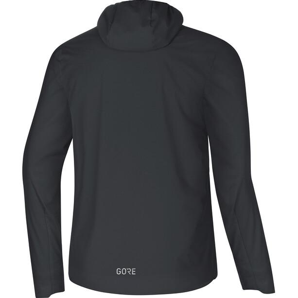 GORE WEAR H5 Gore Windstopper Insulated Hooded Jacket Herr black/terra grey