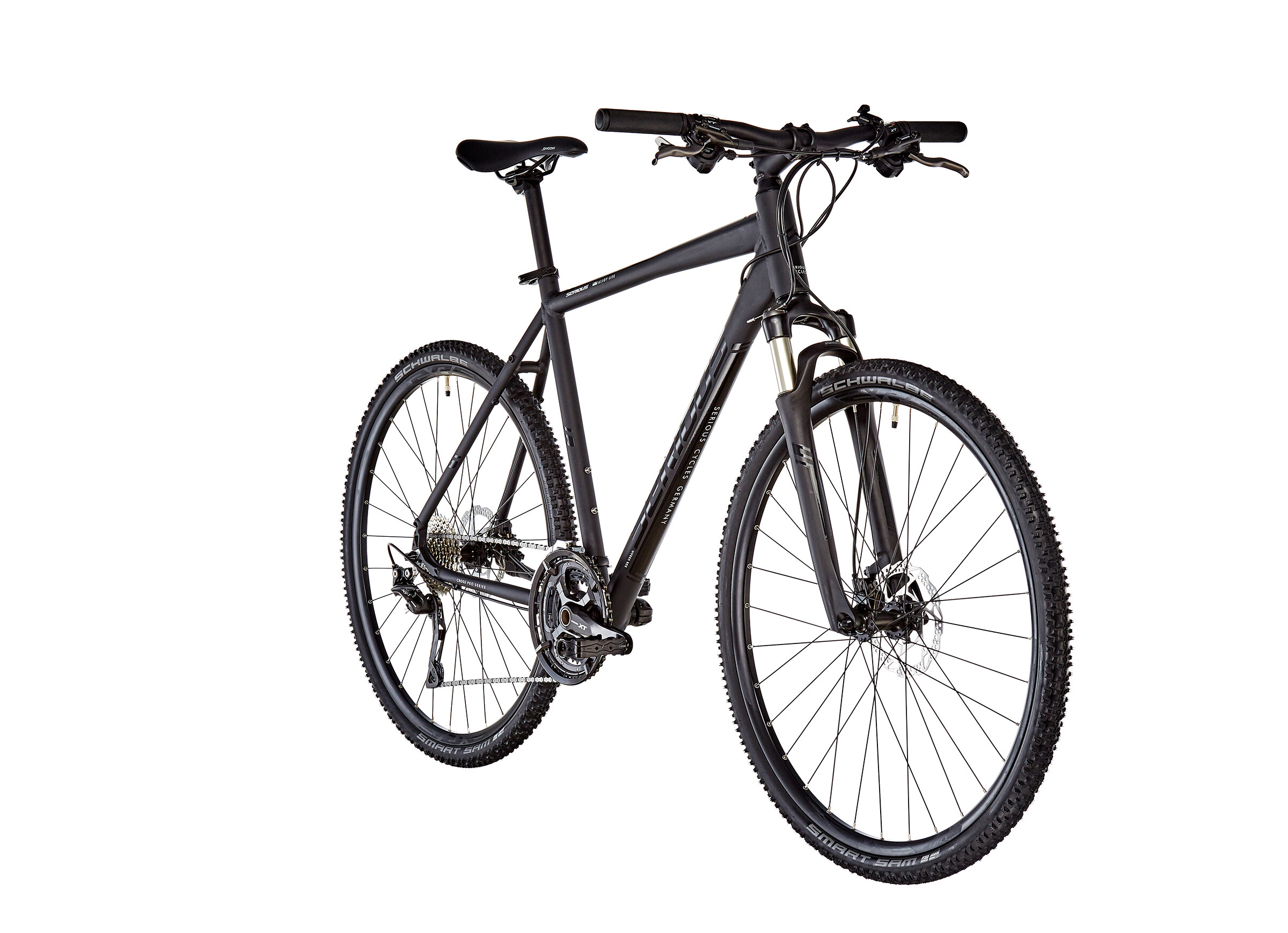 serious athabasca bicicletta ibrida nero su bikester