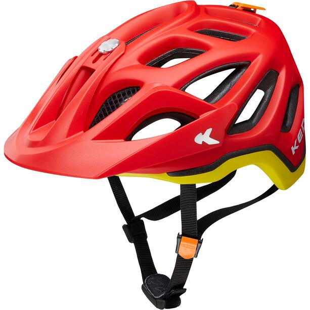 KED Trailon Helm red yellow matt