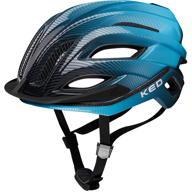 KED Champion Visor Helm blue black