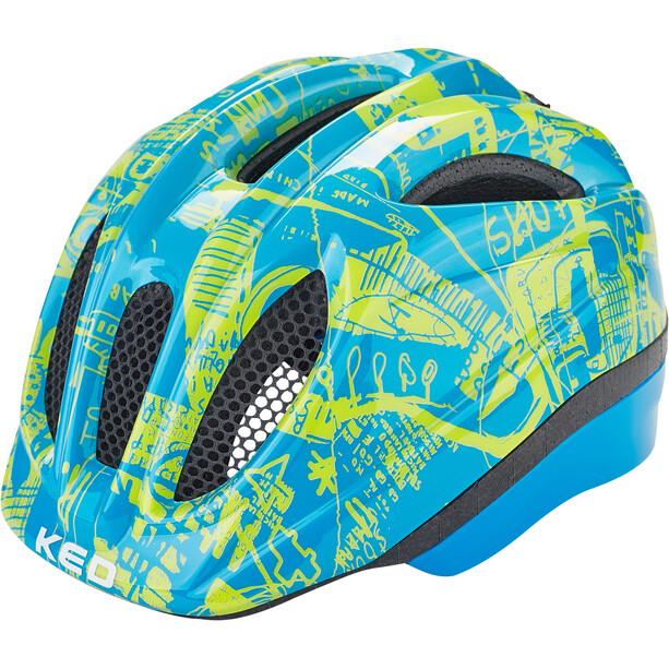 KED Meggy II Trend Helm Kinder blue yellow