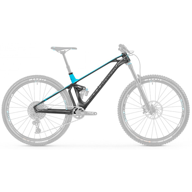 Mondraker Foxy Carbon R 29 Cadre de vélo, black phantom/light blue
