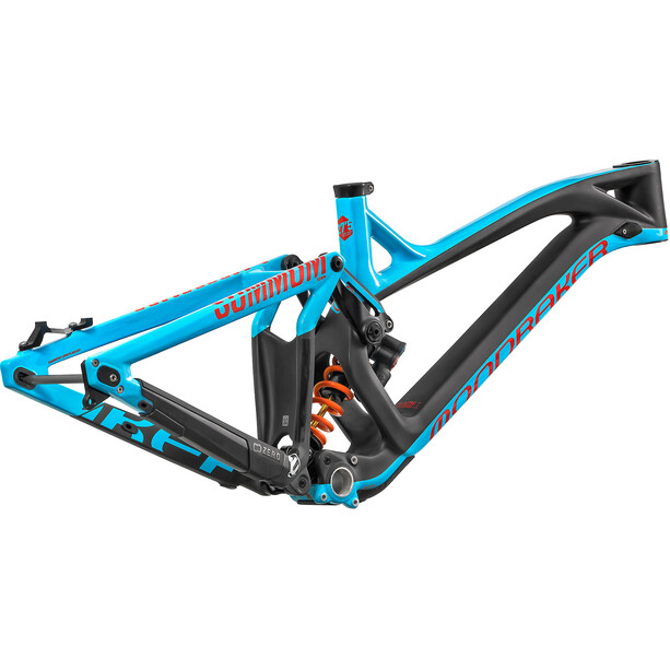 Mondraker Summum Carbon Pro Team Cadre de vélo, light blue/flame red/carbon