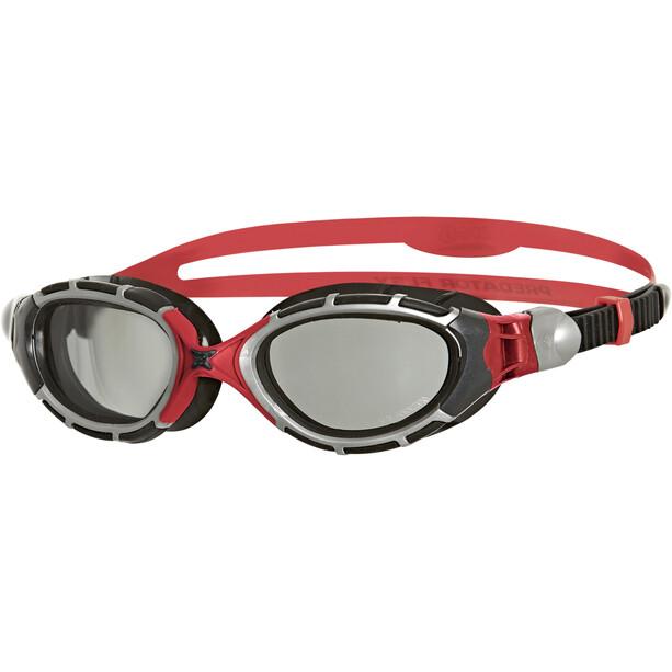 Zoggs Predator Flex Brille Polarisiert Reactor grey/red/black
