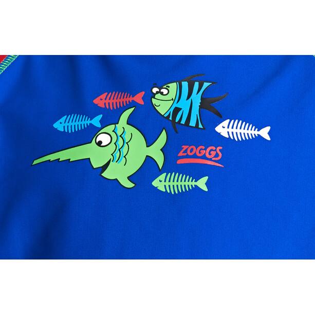Zoggs Sea Saw Sun LS Zip Top Jungen blue