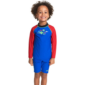 Zoggs Sea Saw Sun LS Zip Top Jungen blue blue