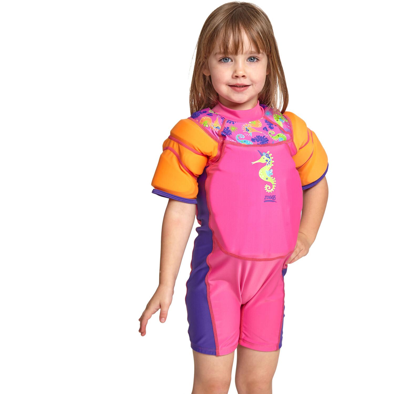 Zoggs Sea Unicorn Water Wings Floatsuit Mädchen pink
