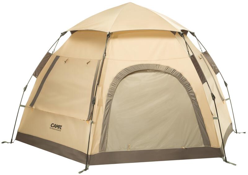 CAMPZ Hexa OT 3P Zelt beige/grau Wurfzelte CAMPZ-T-22