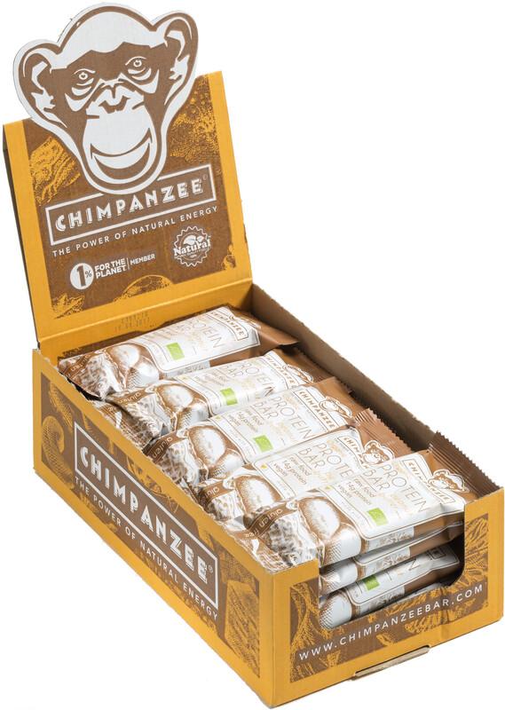 Chimpanzee Organic Protein Bar Box Vegetarisch Erdnussbutter 25 x 45g  2019 Spor