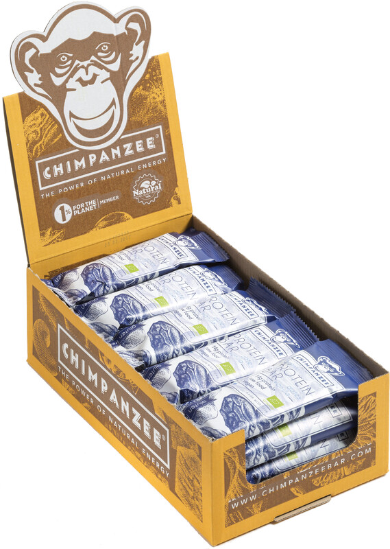 Chimpanzee Organic Protein Bar Box Vegan Datteln & Vanille 25 x 45g  2019 Sportn