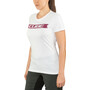 Cube Logo T-Shirt Damen white'n'red