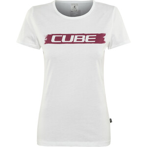 Cube Logo T-Shirt Damen white'n'red white'n'red
