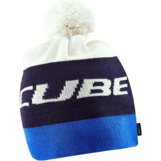 Cube Bommelmütze blue'n'white