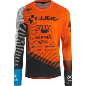 Cube Edge Pyöreäkaukuksinen Jersey Pitkähihainen Miehet, oranssi/musta oranssi/musta