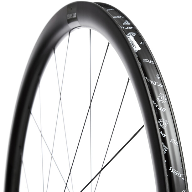 "DT Swiss PRC 1400 Spline 35 Front Wheel Tyre 28"" Carbon CL 100/12mm TA black"