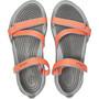 Crocs Swiftwater Webbing Sandalen Damen bright coral/light grey