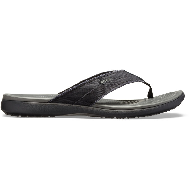 Crocs Santa Cruz Canvas Flip Sandalen Herren black/slate grey