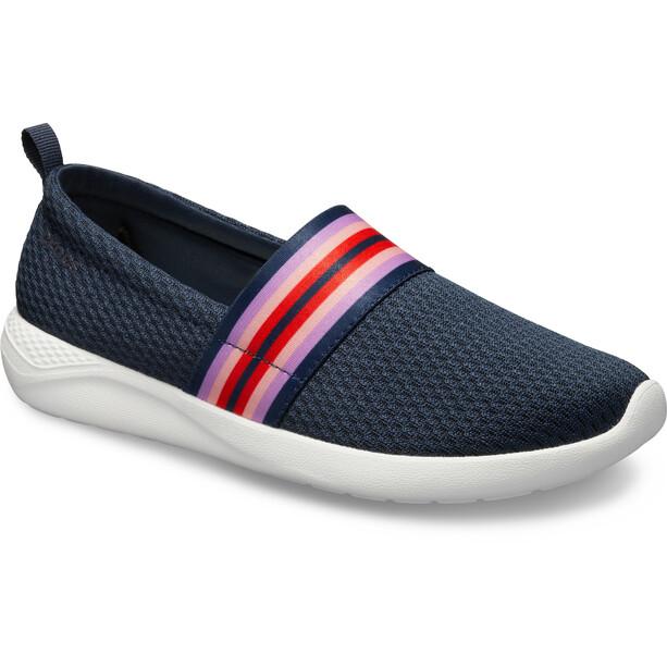 Crocs LiteRide Mesh Slip On Damen navy colorblock/navy