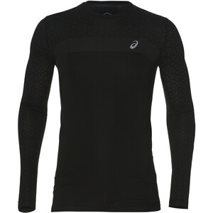 asics Seamless LS Texture Shirt Herren performance black performance black