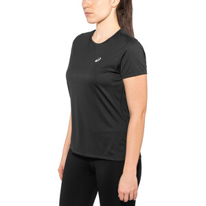 asics Silver Kurzarm Oberteil Damen performance black performance black