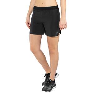 "asics 2-N-1 5"" Shorts Damen performance black performance black"