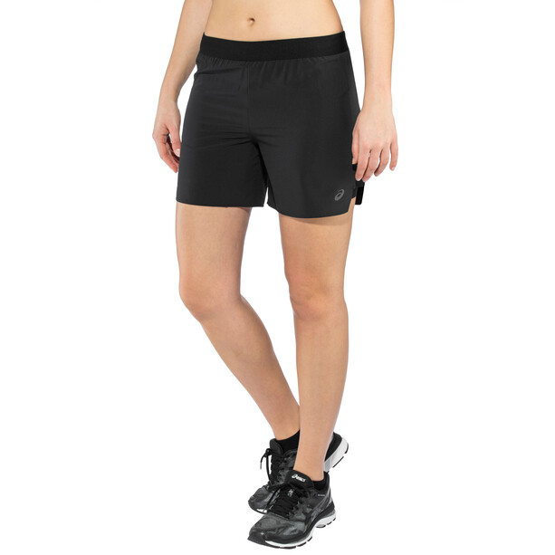 "asics 2-N-1 5"" Shorts Damen performance black"