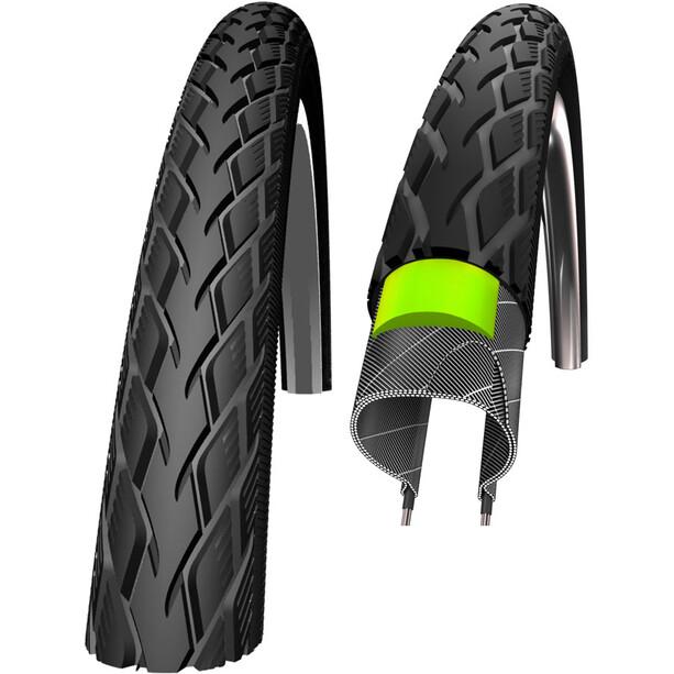 """SCHWALBE Marathon Clincher Tyre GreenGuard E-25 SpeedGrip Reflex 28x1.10"""" Svart"""