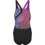 speedo Placement Digital Powerback Badeanzug Damen black/pink