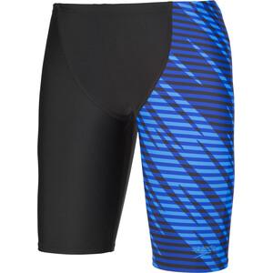 speedo Allover Panel V Cut Jammers Jungen black/blue black/blue
