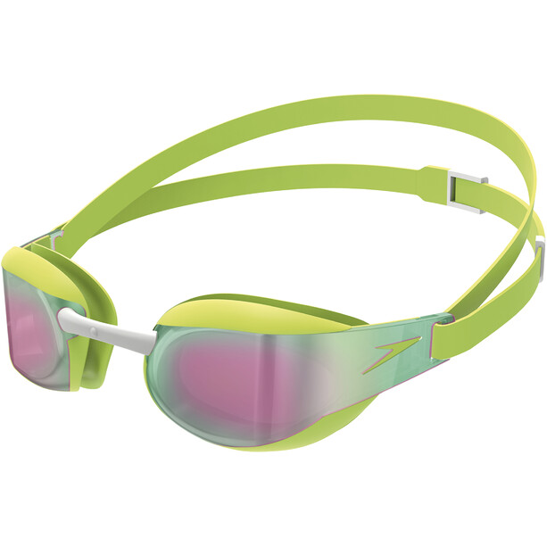 speedo Fastskin Elite Mirror Goggles Kinder green/red