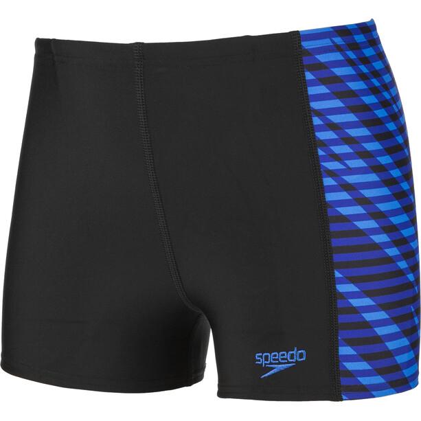 speedo Allover Panel Aquashorts Jungen black/blue