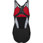 speedo Fit Laneback Badeanzug Damen black/white