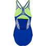 speedo Fit Laneback Swimsuit Dam blue/green