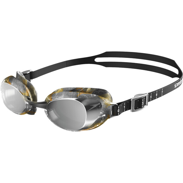 speedo Aquapure Mirror V2 Goggles black/silver