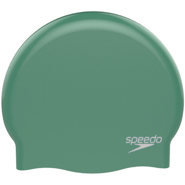 speedo Plain Moulded Silicone Cap Kinder green/white