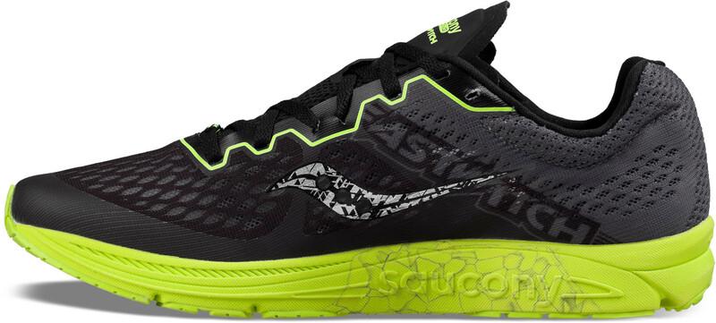 saucony Fastwitch 8 Shoes Women black/citron US 9 | EU 40,5 2018 Straßenlaufsch