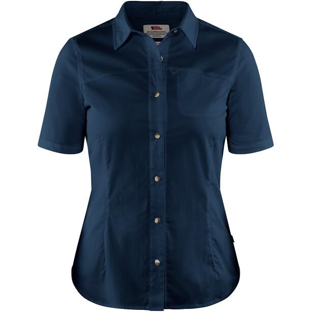 Fjällräven High Coast Stretch Shirt SS Damen navy