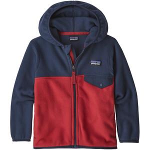 Patagonia Micro D Snap-T Veste Enfant, bleu/rouge bleu/rouge