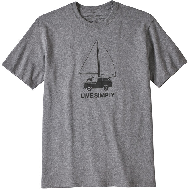 Patagonia Live Simply Wind Powered Responsibili-Tee Herr gravel heather