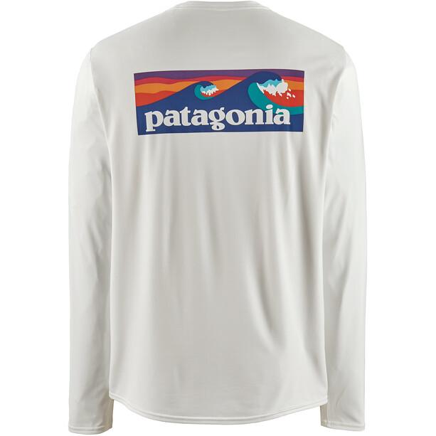 Patagonia Cap Cool Daily Graphic Long Sleeve Shirt Herr boardshort logo/white