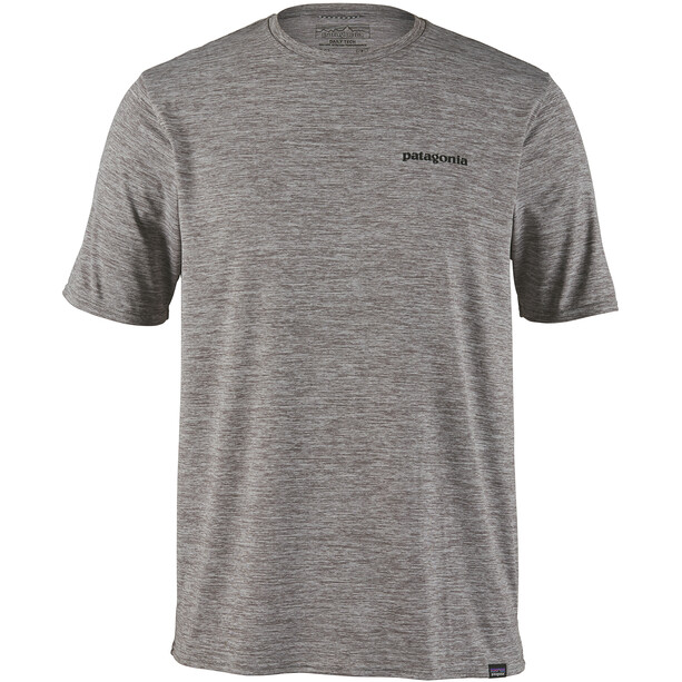 Patagonia Cap Cool Daily Graphic T-shirt Herr p-6 logo/feather grey