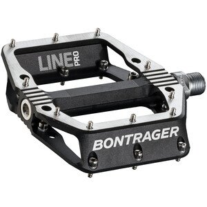 Bontrager Line Pro Pedals black/polished silver black/polished silver