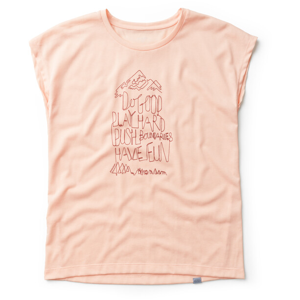 Houdini Big Up Message Tee Dam beach peach