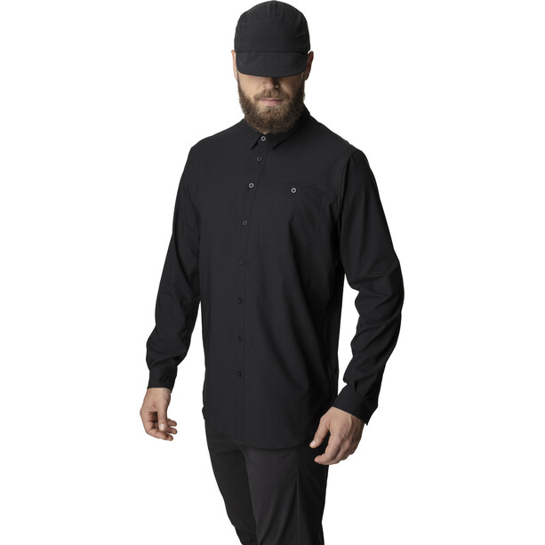 Houdini Langarm Shirt Herren schwarz