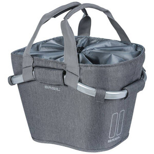 Basil 2Day Carry All KF Front Wheel Basket, grey melee grey melee