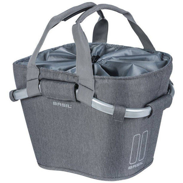 Basil 2Day Carry All KF Front Wheel Basket, grey melee